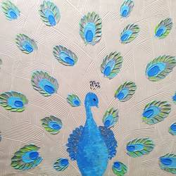 Abstract Peacock beauty  size - 24x18In - 24x18