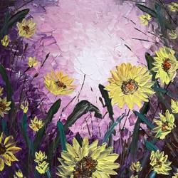 Sunflowers in the wild size - 12x12In - 12x12