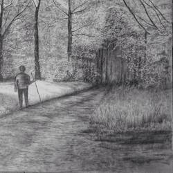 walk in the woods size - 23x16In - 23x16