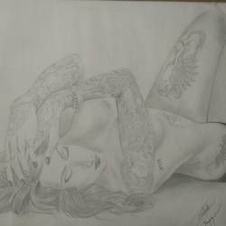 Tattooed girl2 size - 16x11.8In - 16x11.8