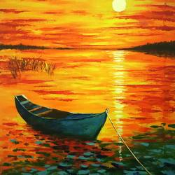 Sunset Beauty Impressionism Painting size - 24x36In - 24x36