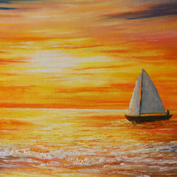 Sunset at Sea size - 24x18In - 24x18