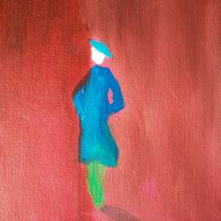 The lady in blue size - 8x10In - 8x10