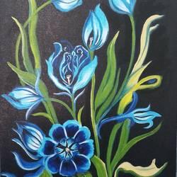 Beutiful flower size - 12x16In - 12x16