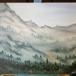 Misty mountains cold size - 24x20In - 24x20