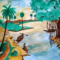 Boat Paintings size - 27.55x19.68In - 27.55x19.68