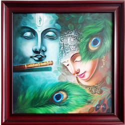 Radha Krishna Natural size - 29x29In - 29x29