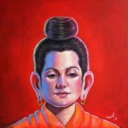 in search of buddha  3 size - 18x18In - 18x18