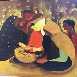 Folk art  size - 18x20In - 18x20
