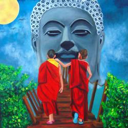 Way Of Buddha size - 31x32In - 31x32