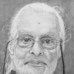 INDIAN ARTIST K.M.NAMBOOTHIRI size - 7.5x10In - 7.5x10