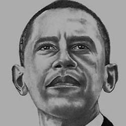 EX-PRESIDENT OF UNITED STATES BARACK HUSSEIN OBAMA size - 7.5x10In - 7.5x10