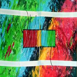 Abstract 0036 size - 80x30In - 80x30