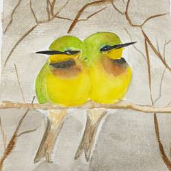 Bee Eater Kingfishers size - 8x12In - 8x12
