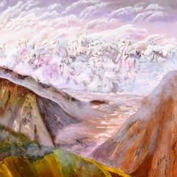 Barlacha Pass Himalayas size - 36x36In - 36x36