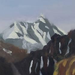 Himalayan peak size - 14x12In - 14x12