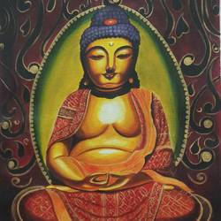 Gautam Buddha Yoga asana size - 16x20In - 16x20