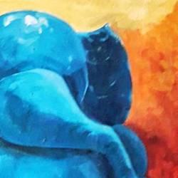 Lord Ganesha size - 12x16In - 12x16