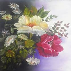 Floral oil Painting size - 16x15In - 16x15