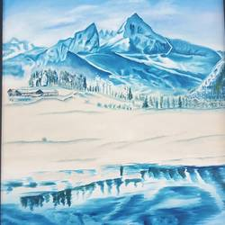 The Snowy Mountain size - 25x37In - 25x37