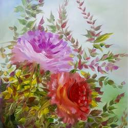 Floral oil painting size - 14x19In - 14x19