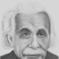 Albert Einstein size - 7.5x10.5In - 7.5x10.5