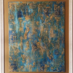 Timeless - Shades of the endless ocean size - 24.5x20.5In - 24.5x20.5