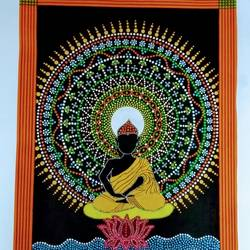Buddha with Dot Mandala size - 15x22In - 15x22