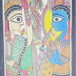 Radha Krishna love size - 7.5x23In - 7.5x23