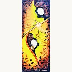 Raghe kirshna painting size - 12x30In - 12x30