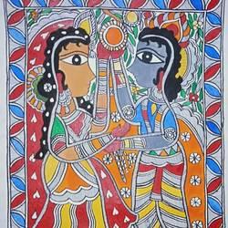 Radha Krishna love size - 11.5x16In - 11.5x16