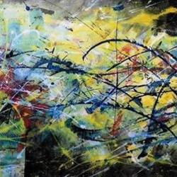 abstract-5 size - 72x28In - 72x28