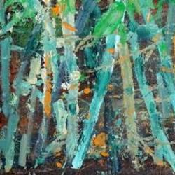 Mystique Bamboo jungle Majauli Assam size - 12x16In - 12x16