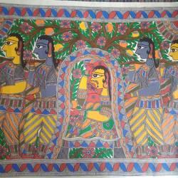 Sita Madhubani Painting size - 32x23In - 32x23