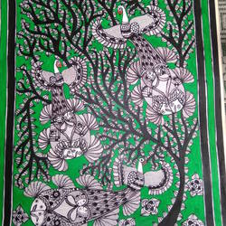 Peacock Madhubani Painting size - 32x23In - 32x23