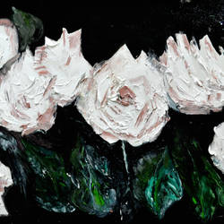 ROSES size - 33x222In - 33x222
