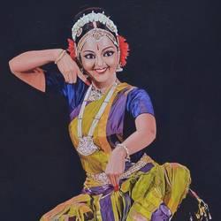 Kuchipudi Dancer size - 24x30In - 24x30