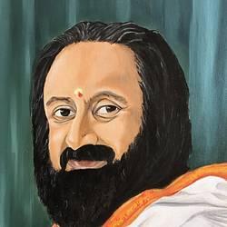 Shri Shri Ravishankar size - 16x20In - 16x20
