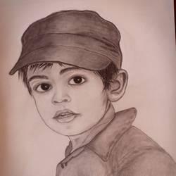 pencil art size - 12x16In - 12x16