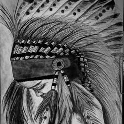 charcoal baby art  size - 12x16In - 12x16