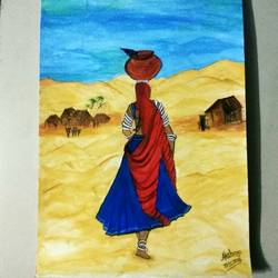 Queen of the desert size - 12x16In - 12x16