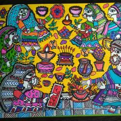 Madhubani Women size - 8x11In - 8x11