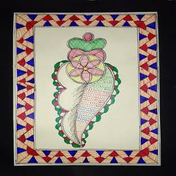 Madhubani Painting size - 8x11.5In - 8x11.5