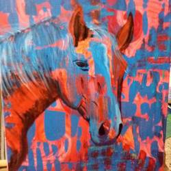 The mythical horse size - 18x24In - 18x24