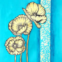 Golden Poppies size - 20x30In - 20x30