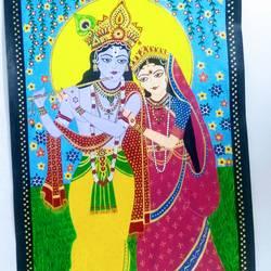 Radhey Krishna size - 17x25In - 17x25
