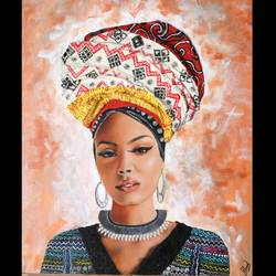 African Lady size - 16x20In - 16x20