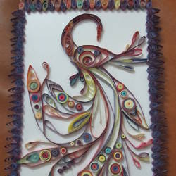quilling wall art for living room size - 8x12In - 8x12