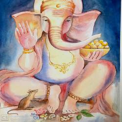 sri ganesha size - 13.5x19In - 13.5x19