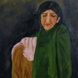 sad woman  size - 12x14In - 12x14